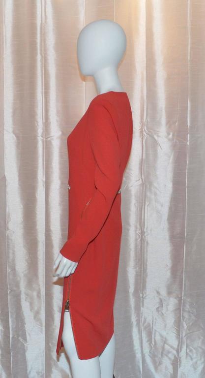 Tom Ford Iconic Zipper Long Sleeve Dress 2