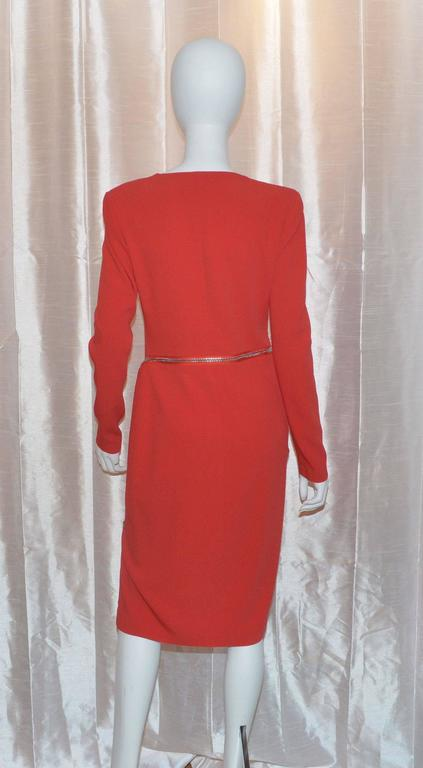 Tom Ford Iconic Zipper Long Sleeve Dress In Excellent Condition For Sale In Carmel by the Sea, CA