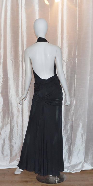 Versace Vintage Silk Jersey Gown 2