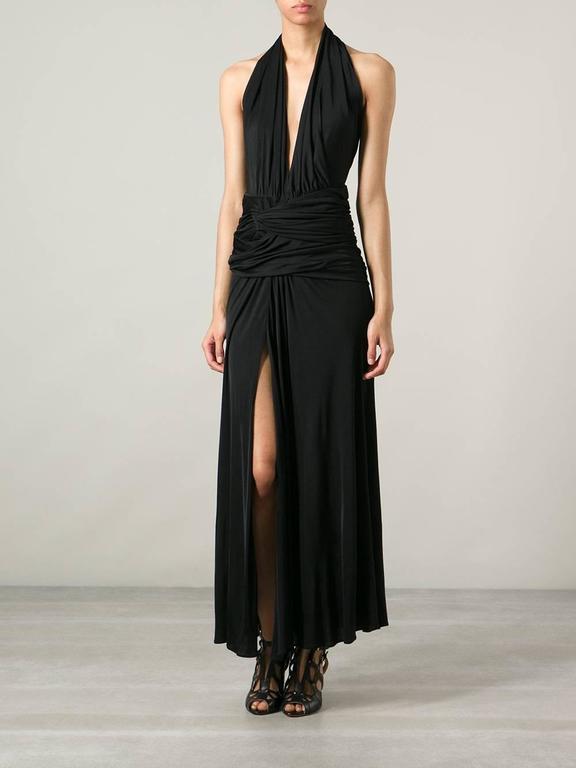 Versace Vintage Silk Jersey Gown 6