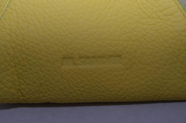 Jil Sander Yellow Pyramid Wristlet Handbag For Sale 1
