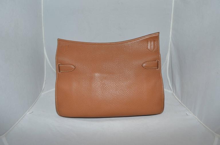 Hermès Gold Jypsiere 34cm Souple Leather Crossbody Bag 3