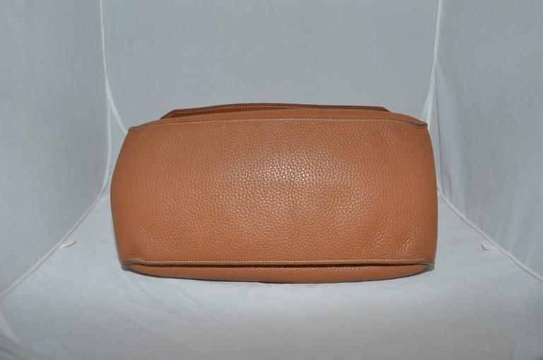 Hermès Gold Jypsiere 34cm Souple Leather Crossbody Bag 4