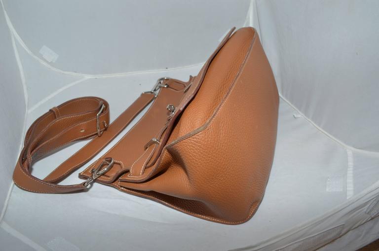 Hermès Gold Jypsiere 34cm Souple Leather Crossbody Bag 6