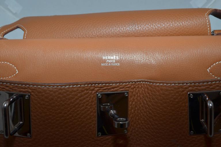 Hermès Gold Jypsiere 34cm Souple Leather Crossbody Bag 7