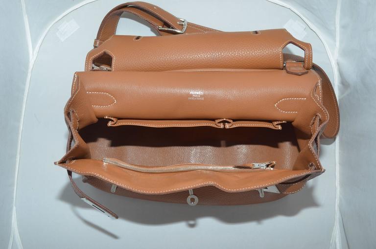 Hermès Gold Jypsiere 34cm Souple Leather Crossbody Bag 8