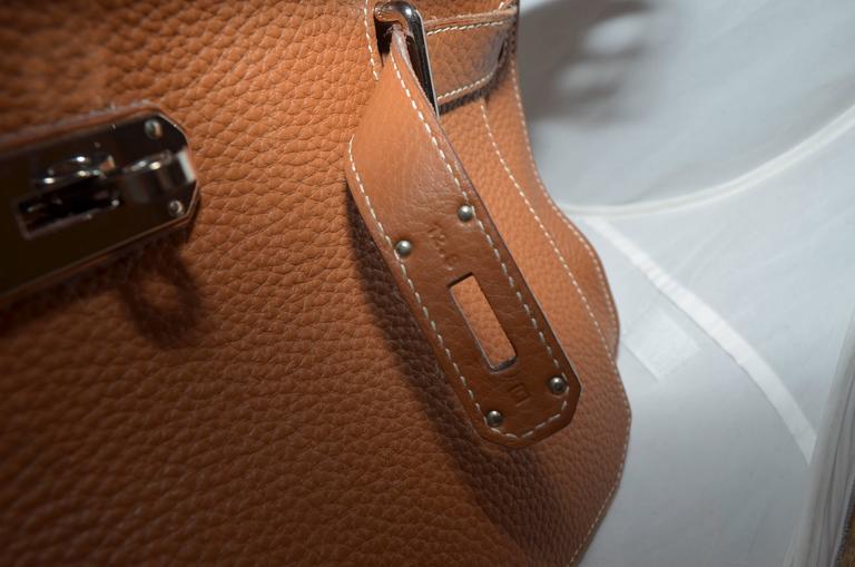 Hermès Gold Jypsiere 34cm Souple Leather Crossbody Bag 9