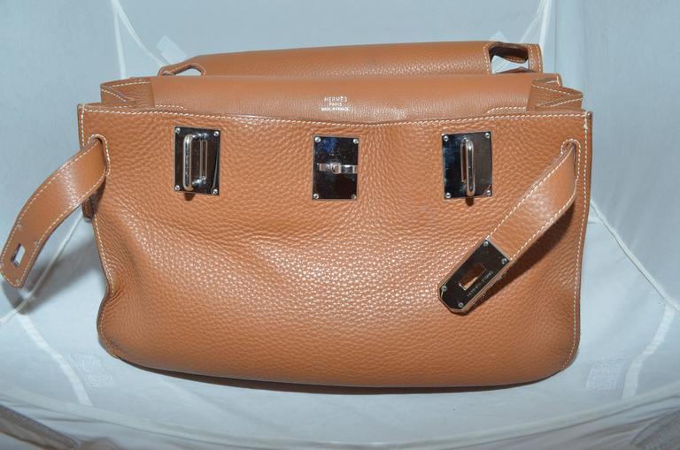 Hermès Gold Jypsiere 34cm Souple Leather Crossbody Bag 10