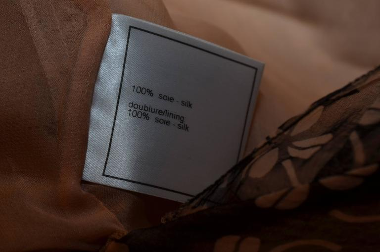 Chanel Silk 4 Leaf Clover Chiffon Gown 7