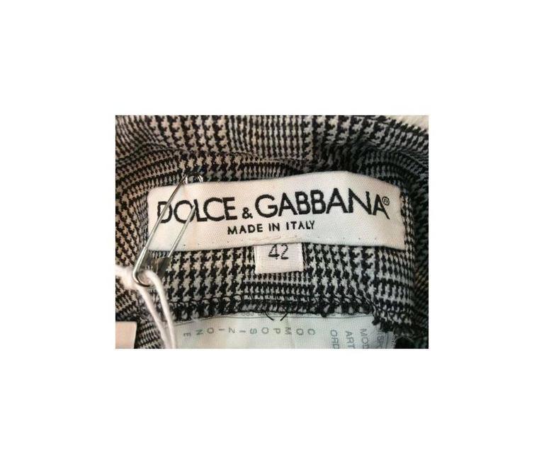 Women's Dolce & Gabbana Western High Waist Plaid Pants For Sale