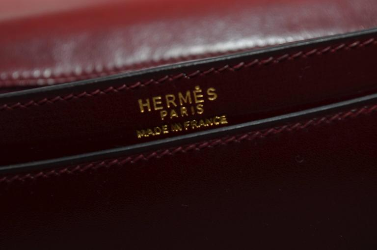 Hermes 1962 Box Calf Rogue 2 Way Clutch Bag with Strap 10