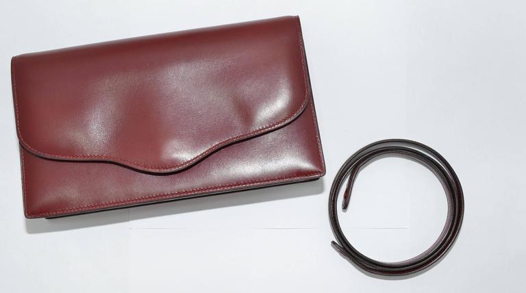 Hermes 1962 Box Calf Rogue 2 Way Clutch Bag with Strap 2