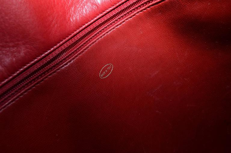 Chanel Red Leather VL Vintage Tote  For Sale 5