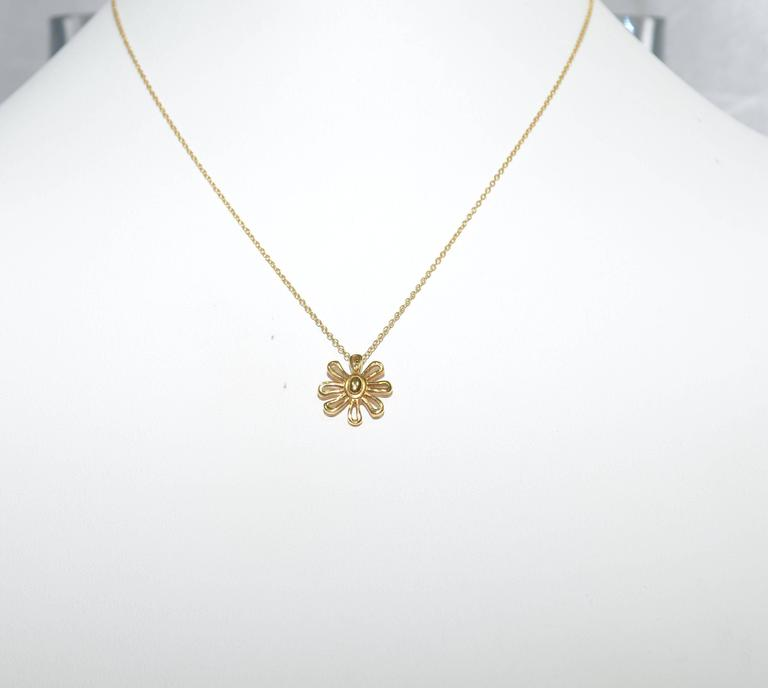 e0ce76ea6 Aesthetic Movement Tiffany Co. Paloma Picasso 18k Gold Daisy Necklace and  Bracelet For Sale