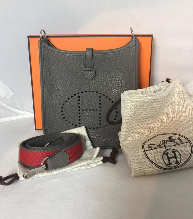 Hermes Tpm Mini Evelyne Bag In Etain Clemence At 1stdibs