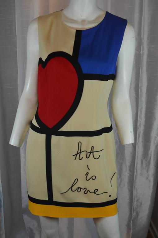Moschino Art is Love Mondrian Dress 5