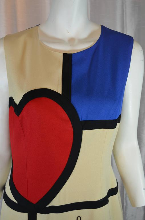 Moschino Art is Love Mondrian Dress 6