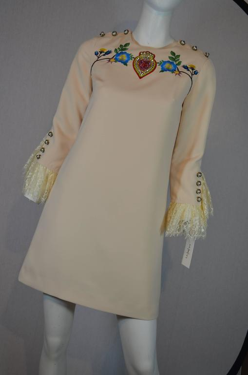 Gucci Embellished Dress 2016 In Excellent Condition For Sale In Carmel by the Sea, CA