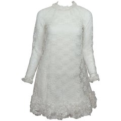 Emma Domb 1960's Long Sleeve Lace Babydoll Dress