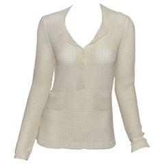 Chanel 2002 P Crochet Sweater
