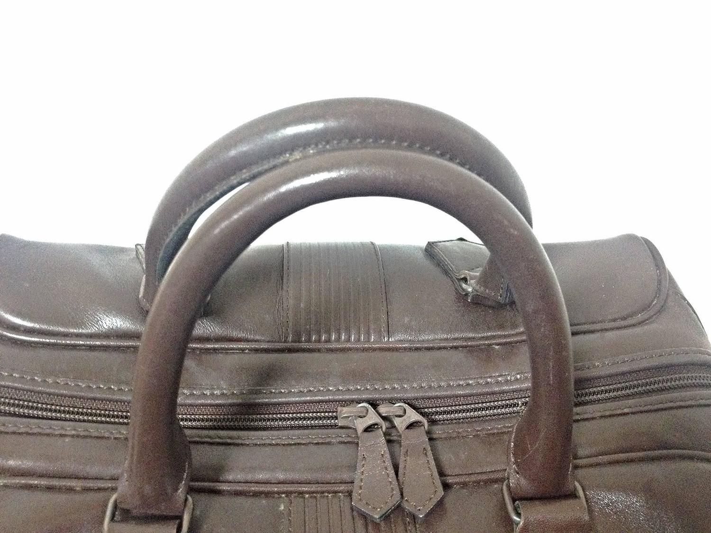 Vintage Yves Saint Laurent genuine dark brown leather daily use ...