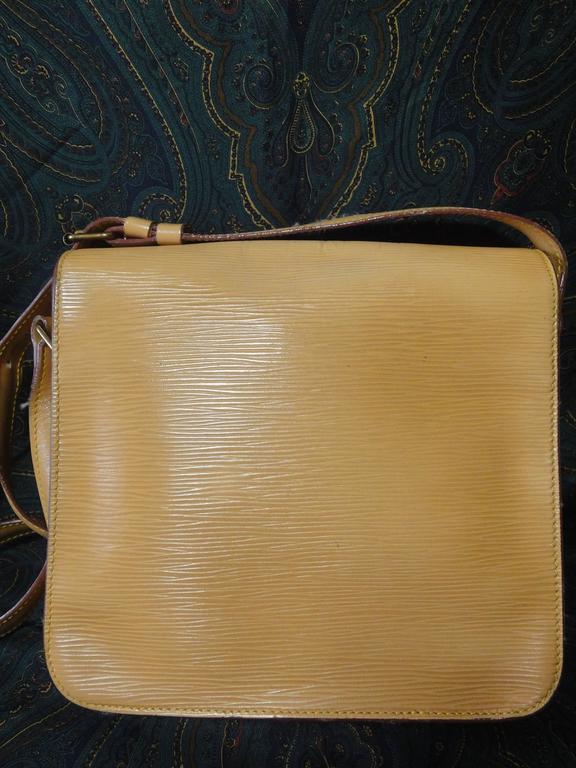 Louis Vuitton Vintage Louis Vuitton Cream Beige Yellow Epi Leather, Cartouchiere Shoulder Bag