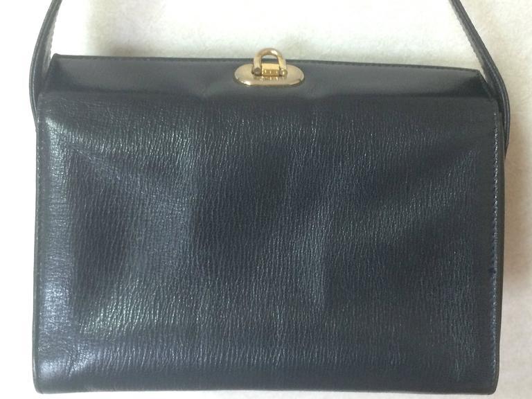 Fendi Vintage Fendi Genuine Navy Leather Square And Triangle Shape Handbag With Logo hiKQrol