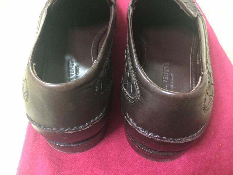 MINT. Vintage Bottega Veneta classic dark brown intrecciato leather shoes. EU38 6