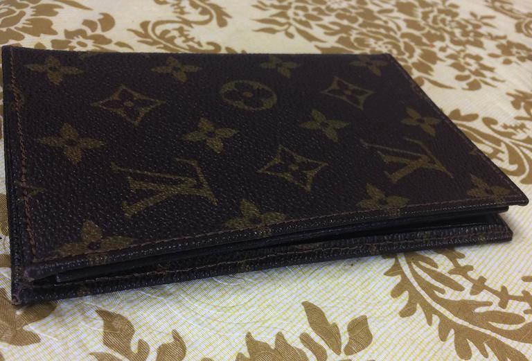 Black 80 S Vintage Louis Vuitton Brown Monogram And Leather Wallet Classic Uni For