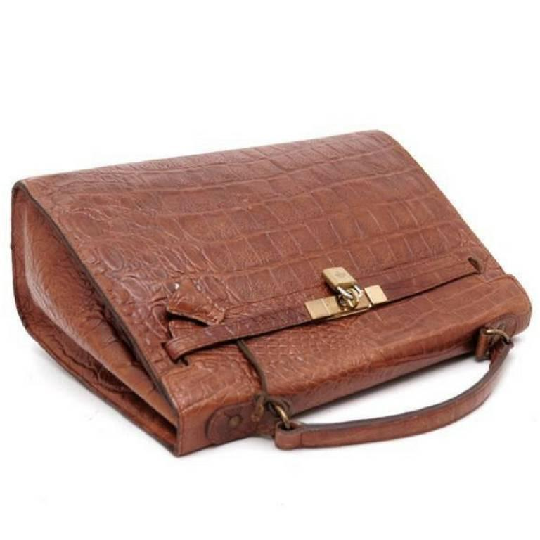 8b6b4fb463 ... wholesale womens vintage mulberry croc embossed leather kelly bag with  shoulder strap. roger saul for ...
