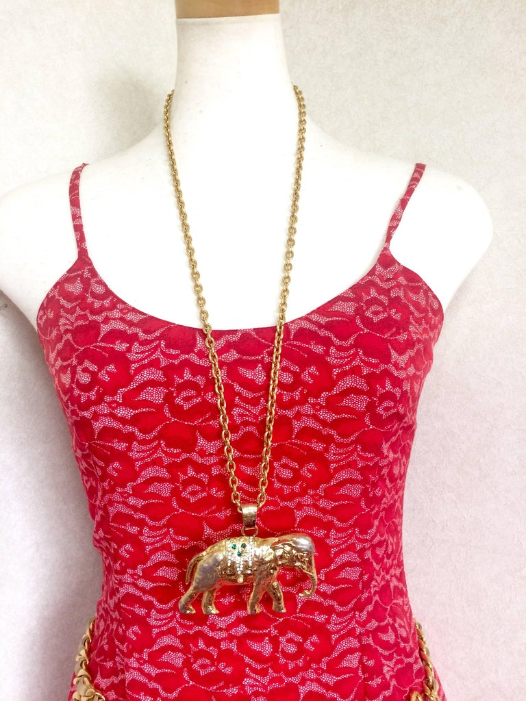 boho p pewter statement elephant large vintage silver fullxfull il necklace