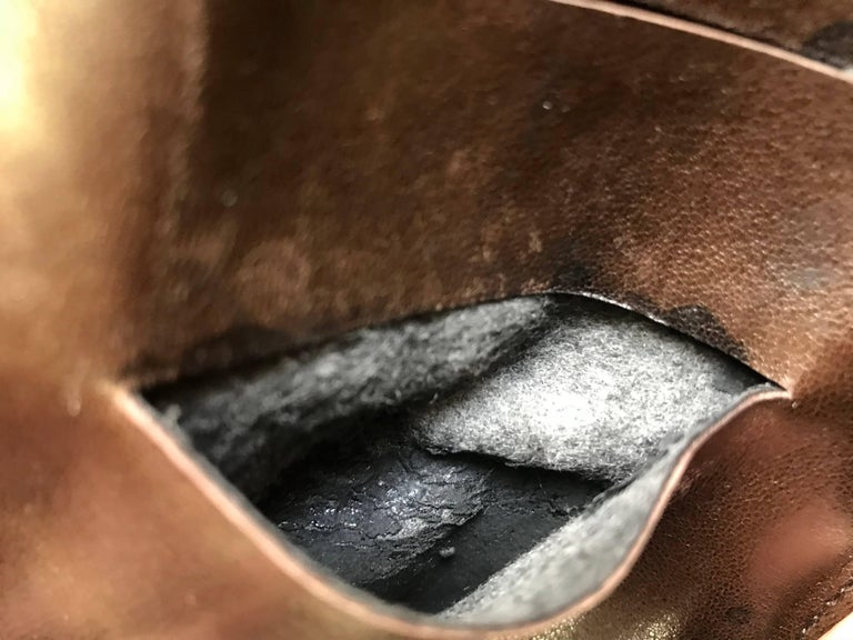 Vintage CHANEL brown clutch bag, wallet, bill, checkbook, iPhone case purse.  For Sale 7