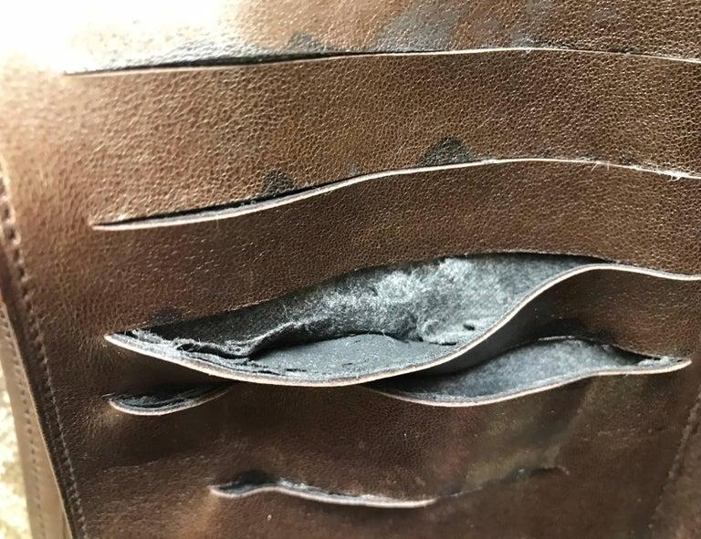 Vintage CHANEL brown clutch bag, wallet, bill, checkbook, iPhone case purse.  For Sale 9
