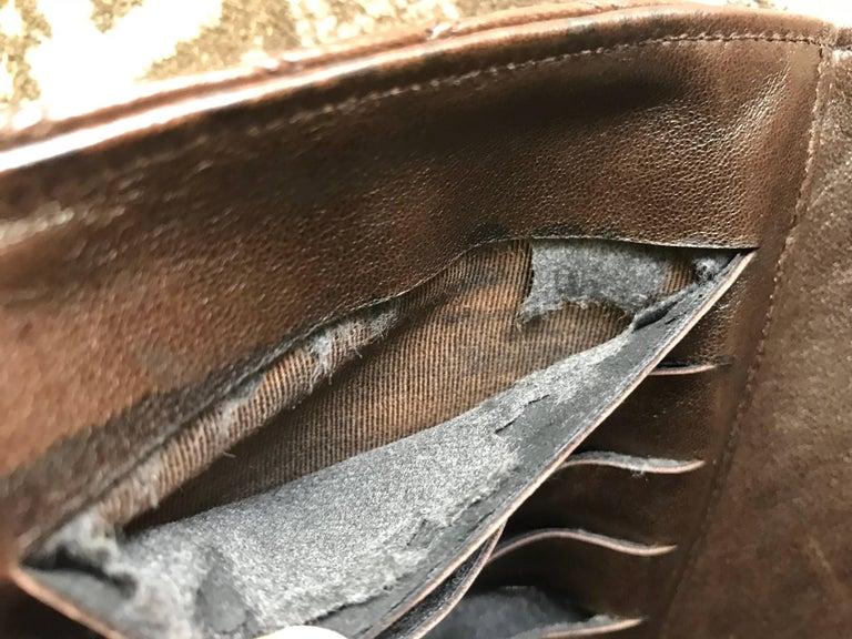 Vintage CHANEL brown clutch bag, wallet, bill, checkbook, iPhone case purse.  For Sale 10