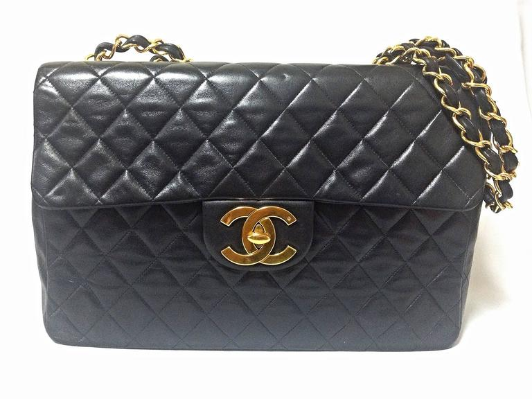 5d79f2080a80 Chanel Classic Flap Bag Extra Large | Stanford Center for ...