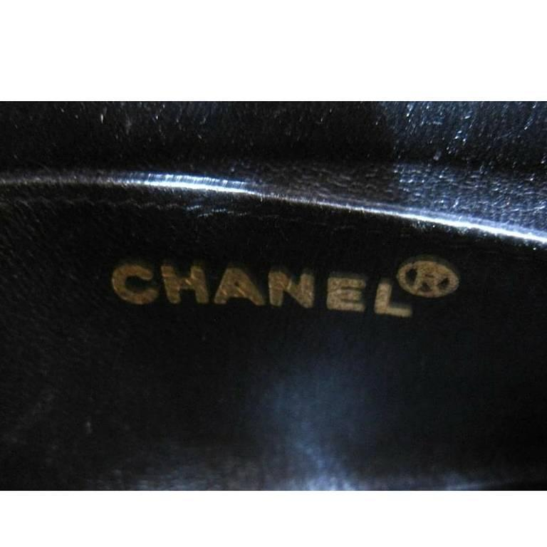 Vintage CHANEL charcoal black suede leather classic 2.55 shoulder gold chain bag For Sale 1