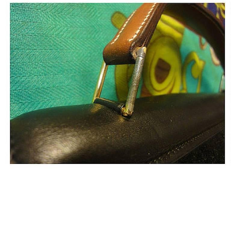 80's Vintage HERMES business portfolio bag, president in calf, suede, lizard. For Sale 1