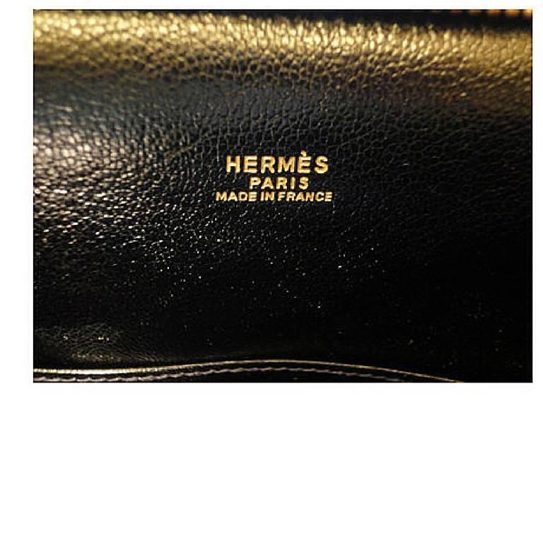 80's Vintage HERMES business portfolio bag, president in calf, suede, lizard. For Sale 2