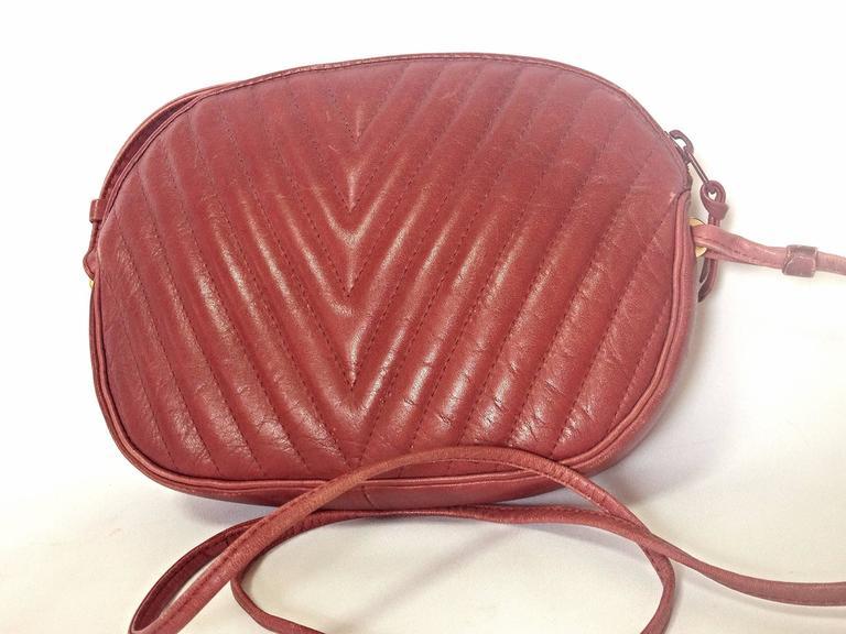leather and wine vintage valentino garavani wine burgundy leather mini shoulder bag