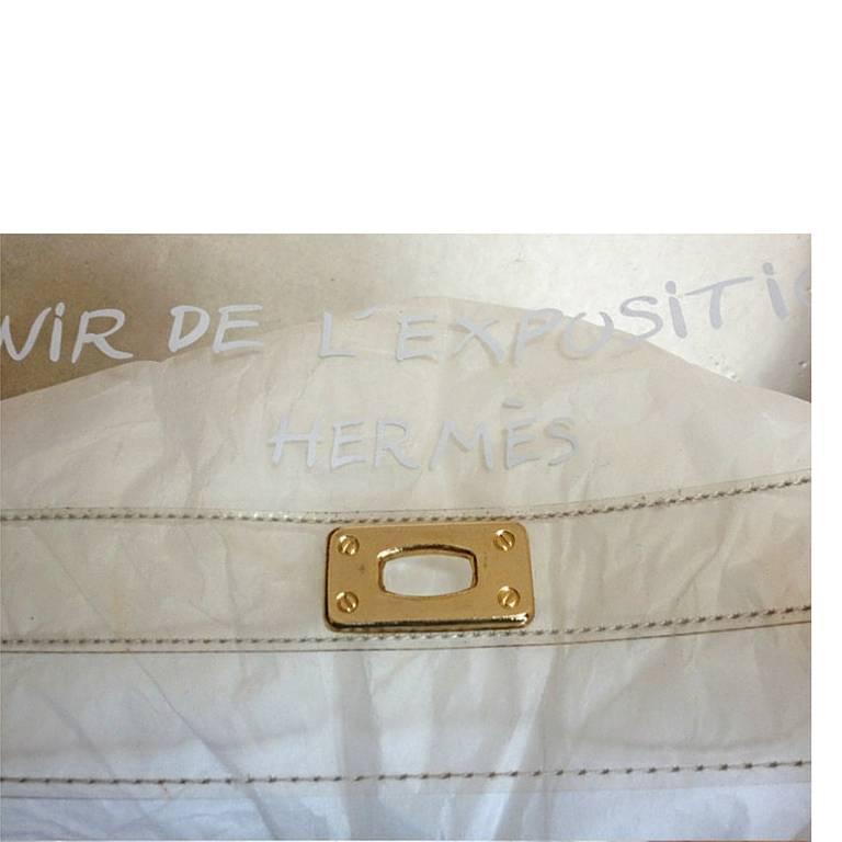 hermes kelly 1997 clear vinyl exposition souvenir hand bag