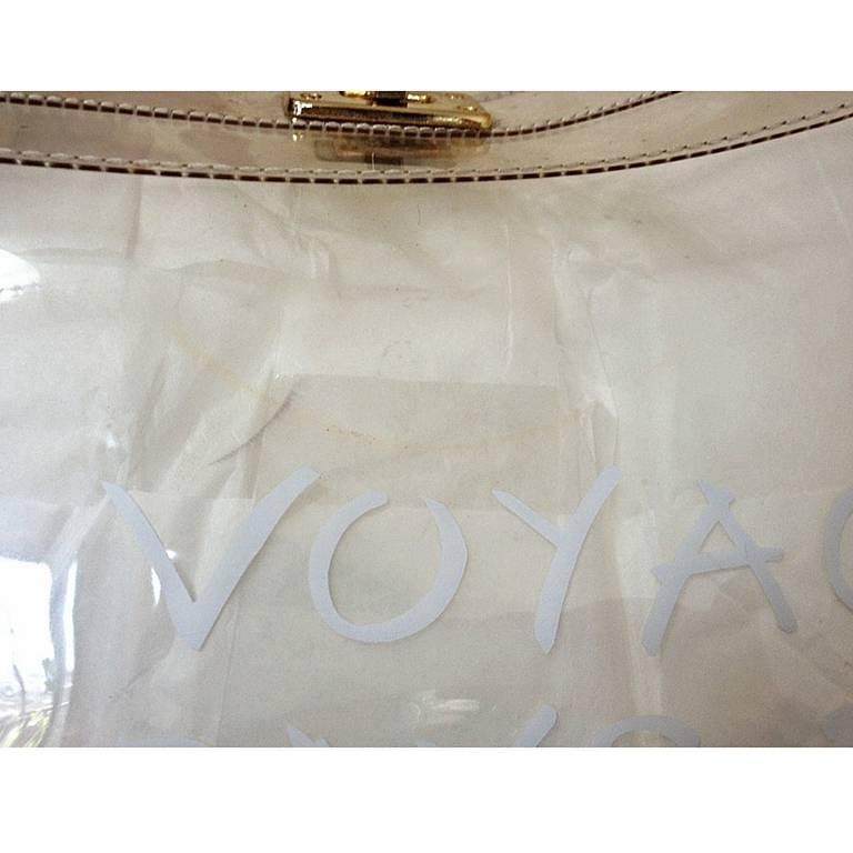 hermes birkin crocodile bag - hermes kelly 1997 clear vinyl exposition souvenir hand bag, hermes ...