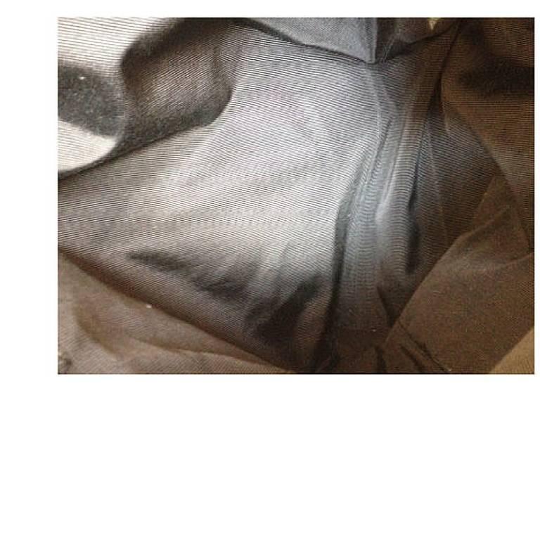 Vintage CHANEL black caviar leather shoulder tote bag with cc stitch marks. 9