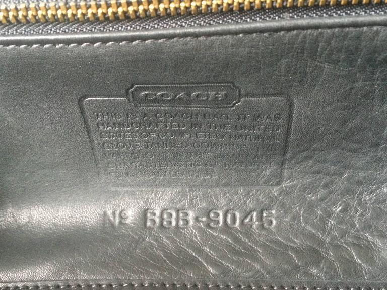 80's Vintage COACH dark brown leather shoulder bag, handbag in unique drum shape 8