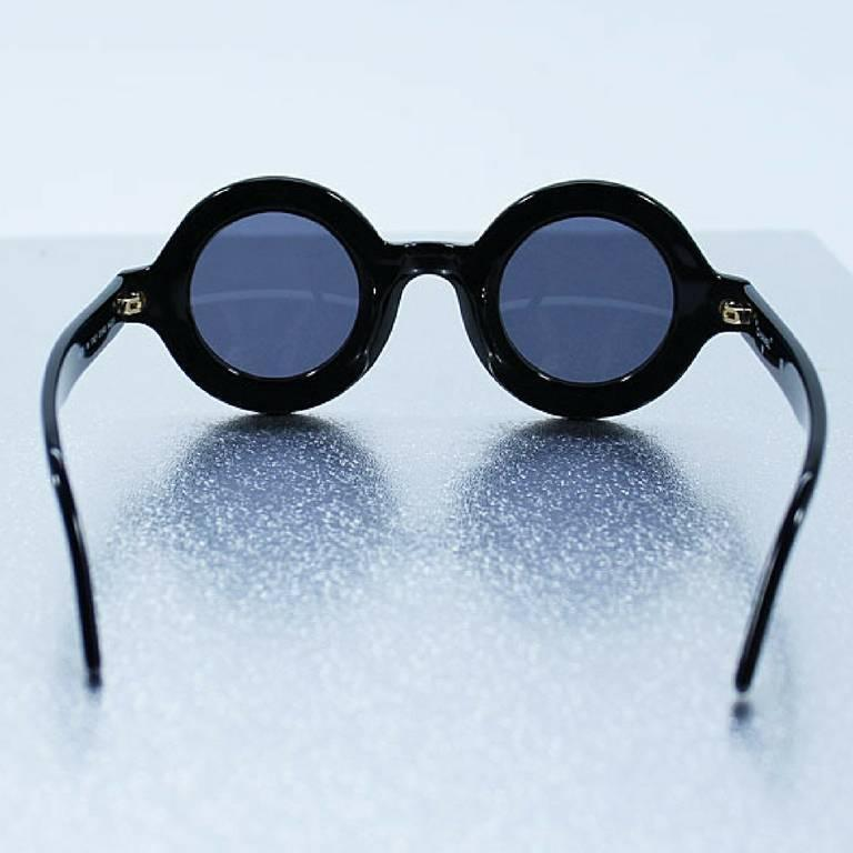 White Frame Chanel Glasses : Vintage CHANEL black round frame mod sunglasses with white ...