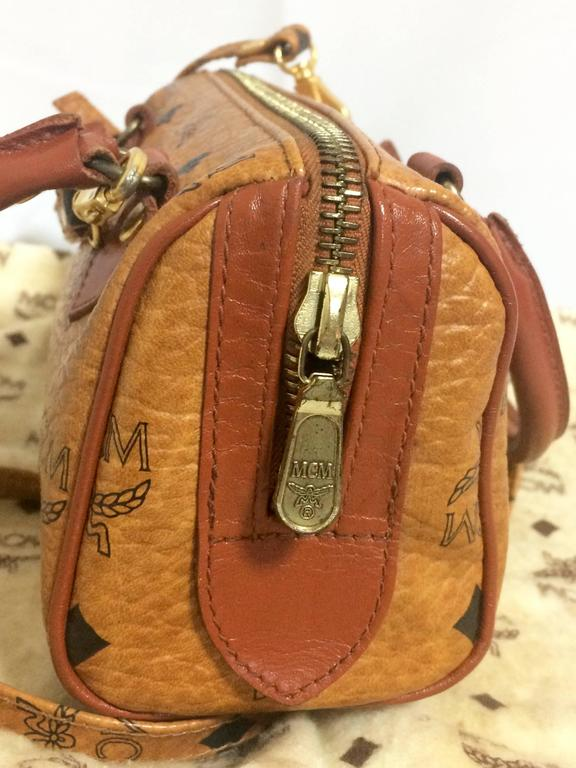 Vintage MCM monogram mini speedy bag with shoulder strap, by Michael Cromer. In Excellent Condition For Sale In Kashiwa, Chiba