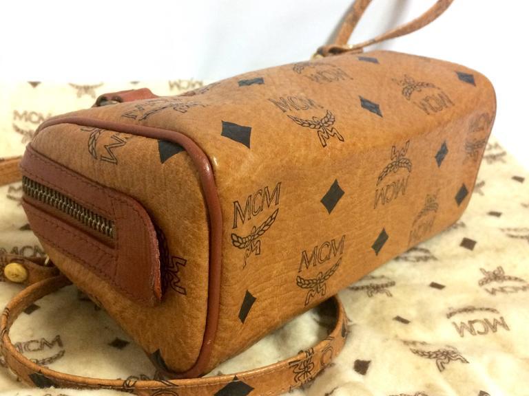 Vintage MCM monogram mini speedy bag with shoulder strap, by Michael Cromer. For Sale 1