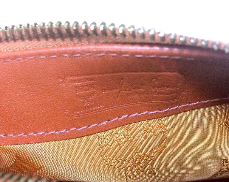 Vintage MCM monogram mini speedy bag with shoulder strap, by Michael Cromer. For Sale 3