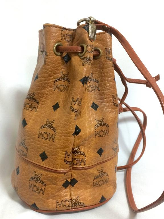 vintage mcm brown monogram small hobo bucket bag  mini purse  west germany made for sale at 1stdibs