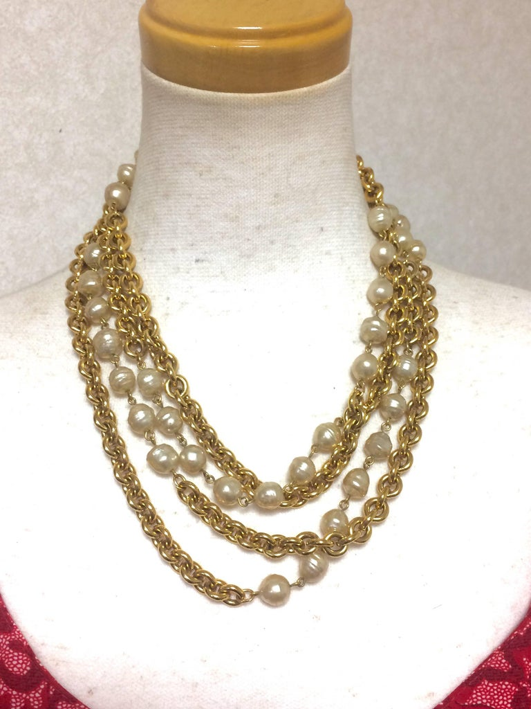 statement room faux pearls l necklace beads no property glass reserve