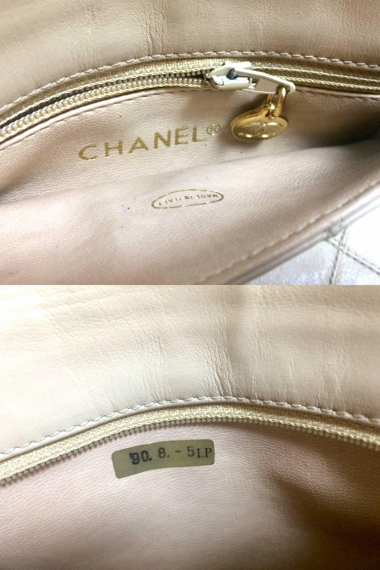vintage chanel beige waist purse  fanny pack  hip bag with golden cc and chain  at 1stdibs